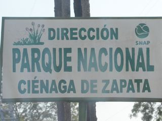 Zapata National Park Sign